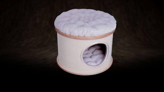 Sisal Round box for cat